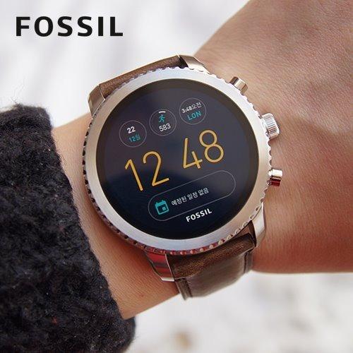 Smartwatch Fossil Q Explorist Gen 3 Amoled Metal Piel