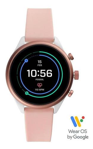 smartwatch fossil sport unissex rosa ftw6022/8ti