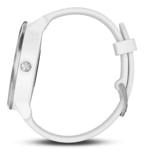 smartwatch gps garmin vivoactive 3 branco hrm natação bike