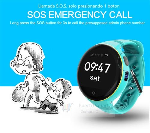 smartwatch gps para niños boton sos llamada dual sim card