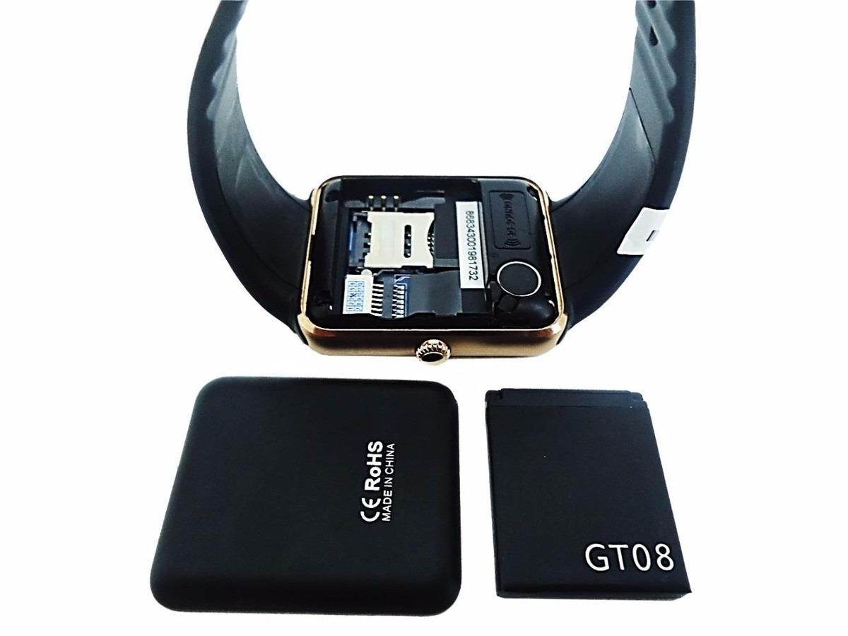 0ec33718687 smartwatch gt08 relógio inteligente bluetooth celular 1 chip. Carregando  zoom.