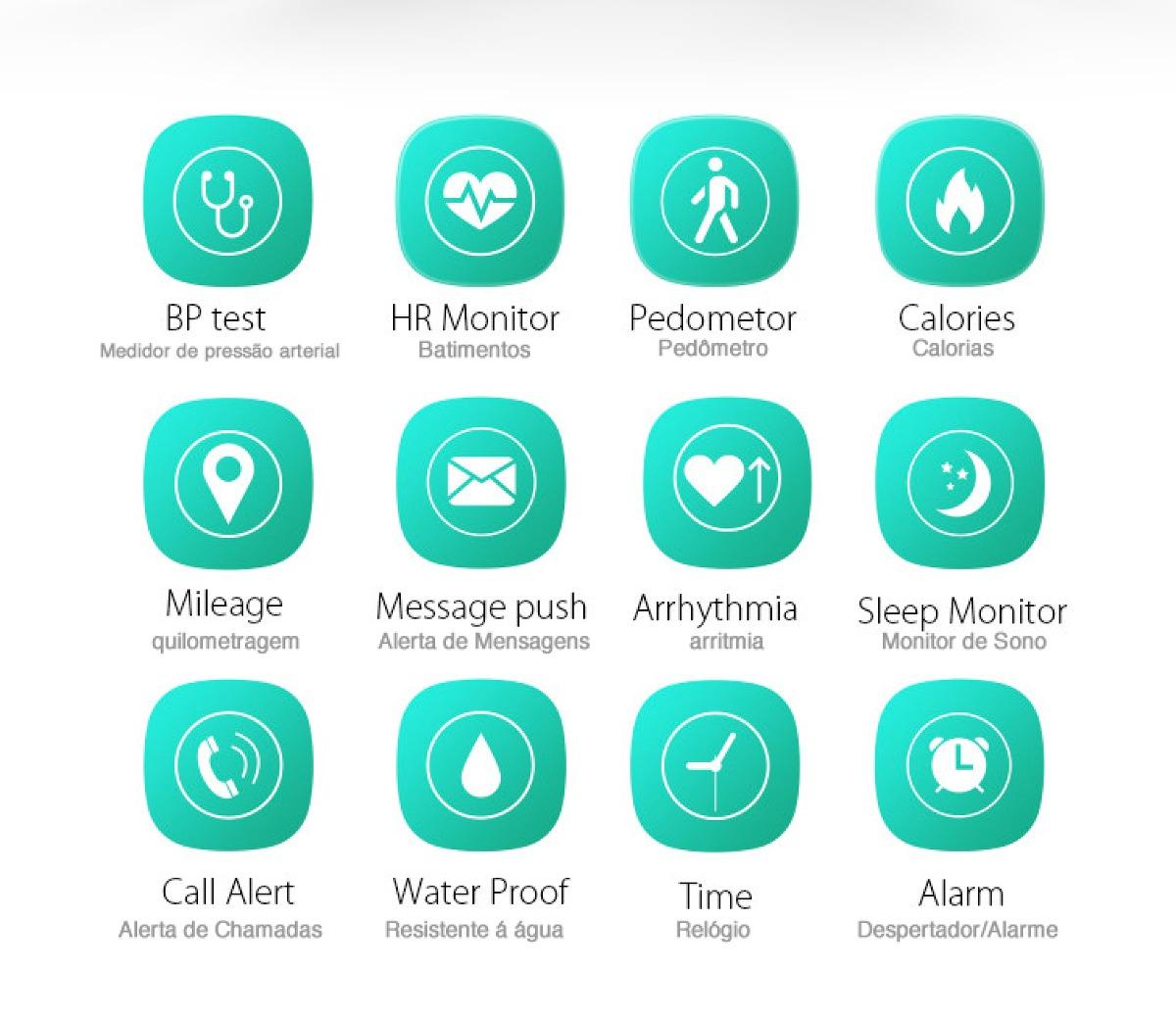 efe7d47bb86 smartwatch h07 relógio bluetooth android iphone ciclismo. Carregando zoom.