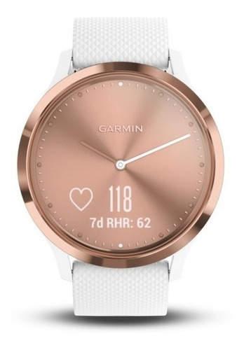 smartwatch hibrido touch garmin vivomove hr sport rosê gold