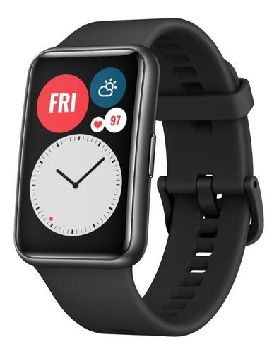 smartwatch huawei watch fit + audifonos huawei am61 rojo