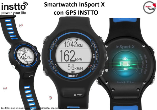 smartwatch insport x con gps instto alta precisión