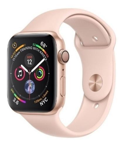 smartwatch iwo 8 44mm rose brinde 2 pulseiras+ 1 película