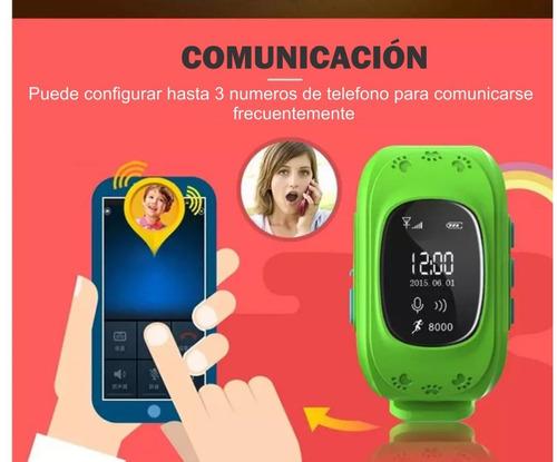 smartwatch kids reloj q50 niños gps espia envío gratis