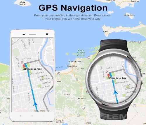 Smartwatch Lemfo Les1 Mtk 6580,lançamento, 16gb Rom, 1gb Ram