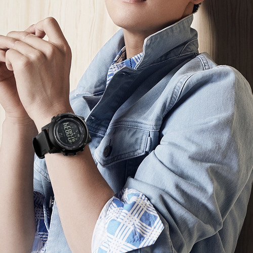 smartwatch masculino skmei 1321 digital bluetooth + brinde