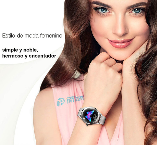 smartwatch metal reloj mujer tactil iphone android kw10 ip68
