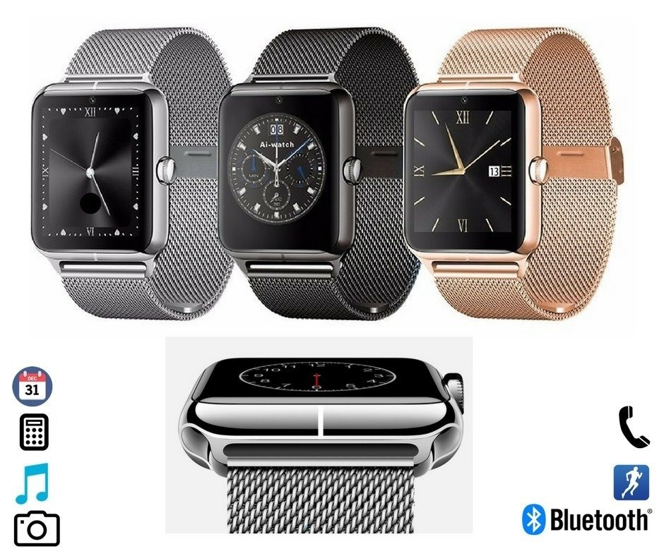 promo code b1555 beb36 Smartwatch Modelo Z60-a2 Metal Compatible iPhone 7 Android 7