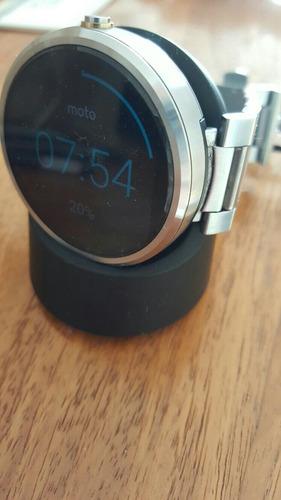 smartwatch moto 360 pulseira de aço