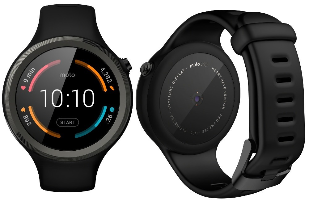 Smartwatch Motorola Moto 360 Sport Preto Bluetooth Lacrado ...