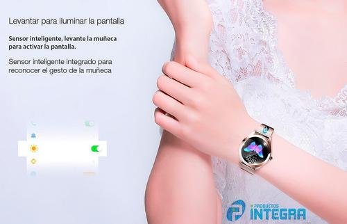 smartwatch mujer metal reloj kingwear android kw10 cardiaco