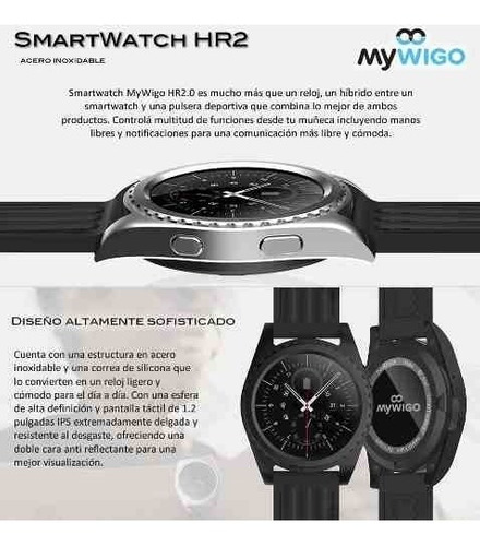smartwatch mywigo hr2.0 acero notific wsp silver sabattini