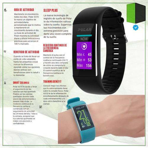 smartwatch polar a370 reloj frecuencia cardíaca m y l negro