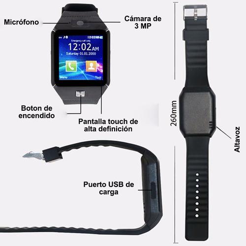 smartwatch reloj celular inteligente dz09 camara sim calidad