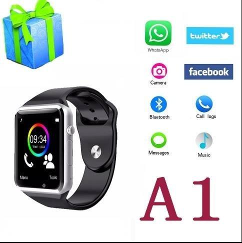 smartwatch (reloj inteligente) a1 con chip y memoria microsd