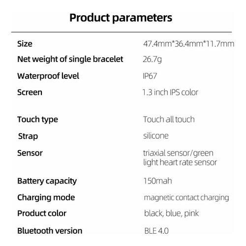 smartwatch, reloj inteligente deportivo impermeable ip67