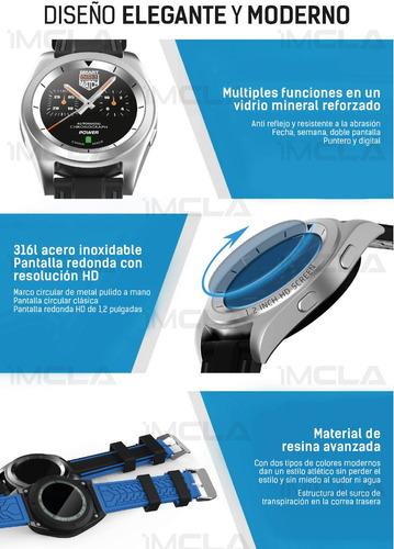 smartwatch reloj inteligente g6 (gama alta style)metal silve