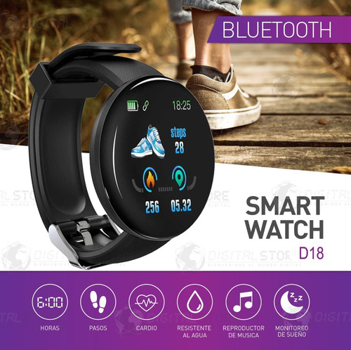 smartwatch reloj inteligente sumergible e07 celular android apple iphone fit band deportes newvision