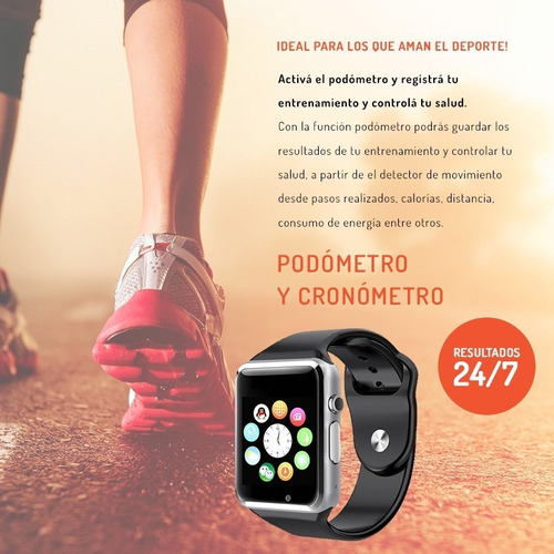 smartwatch reloj inteligente w8 iphone android touch sup u8