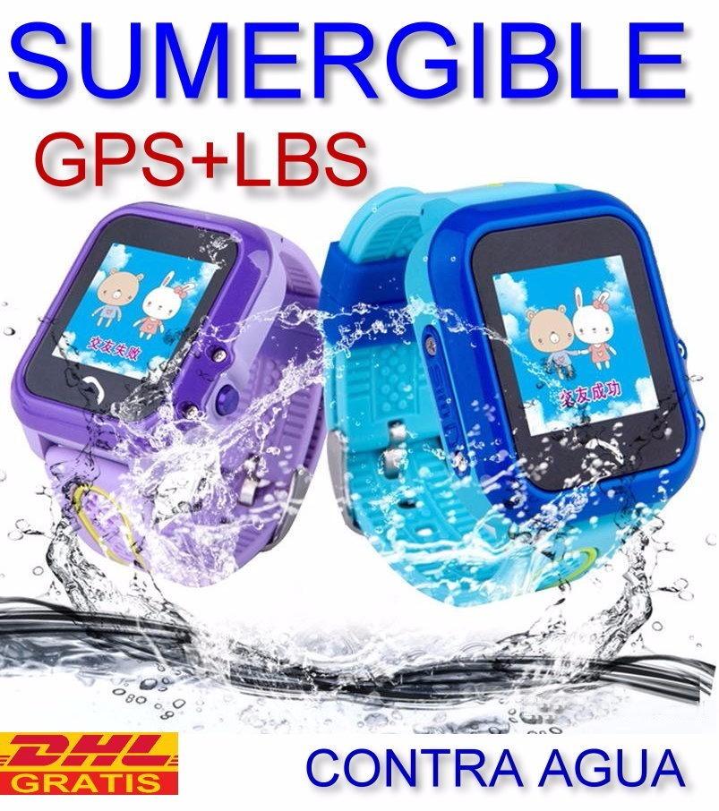 Smartwatch Reloj Localizador Gps Contra Agua Sumergib