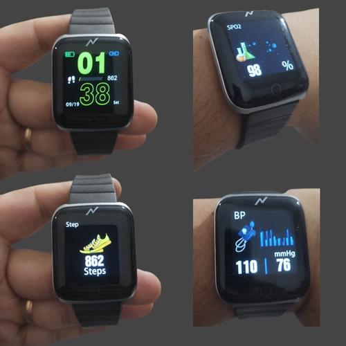 smartwatch reloj mide oxigeno presion frec cardiaca not wsp