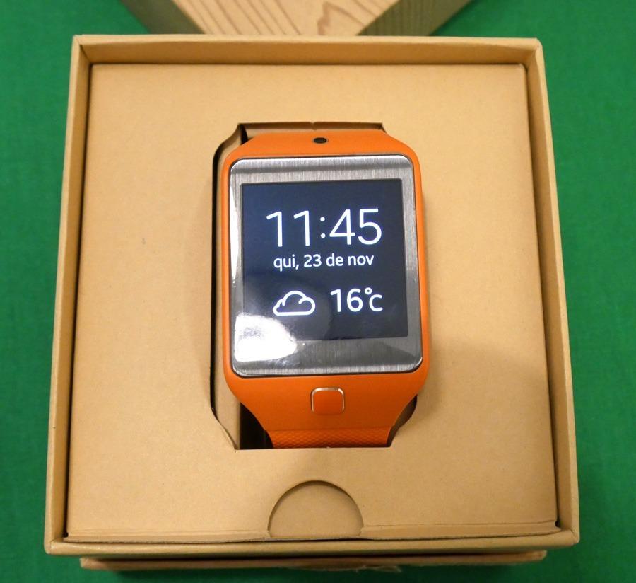 89045f90856 smartwatch samsung gear 2 neo smartwatch - laranja. Carregando zoom.