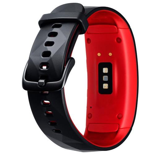 smartwatch samsung gear fit 2 pro - negro rojo