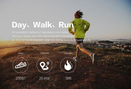 smartwatch smartband reloj inteligente sport calorias frecuencia presion m3