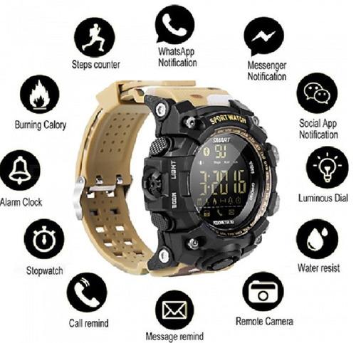 smartwatch sumergible robusto militar pasos distancia etc!!!