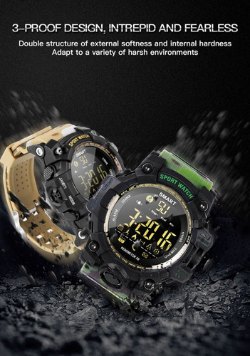 smartwatch sumergible robusto militar pasos distancia etc!!!