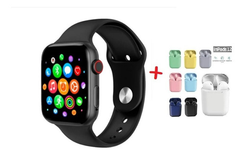 smartwatch t500 + airpoods twsi12 inalambricos colores