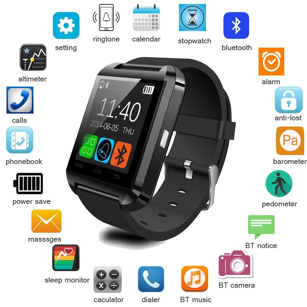 2fc4d480ca6 Smartwatch U8 Negro/blanco/rosado Envío Gratis!!! - S/ 50,00 en ...