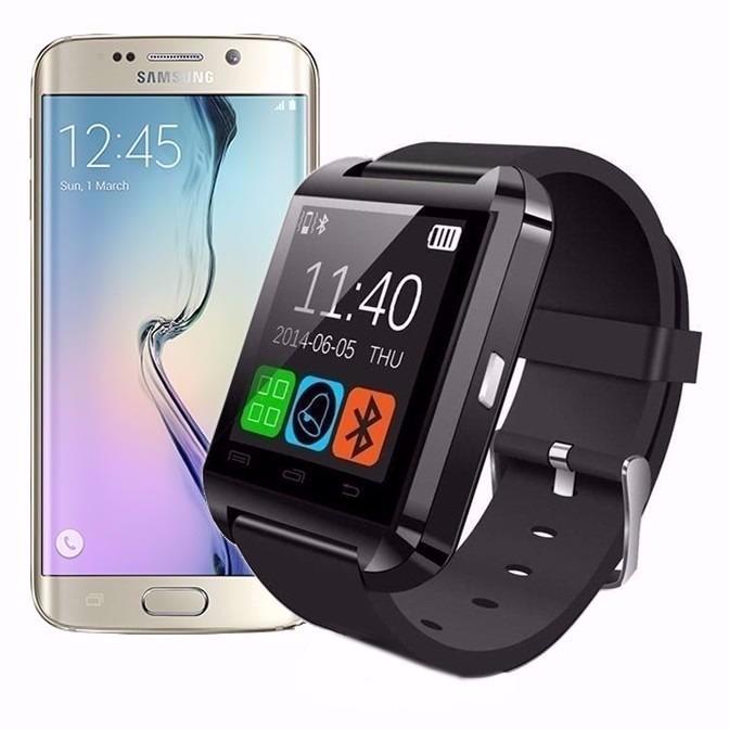 0f21988f23c Smartwatch U8 Relógio Bluetooth Sony Xperia Blu 5.0 Grandous - R  91 ...