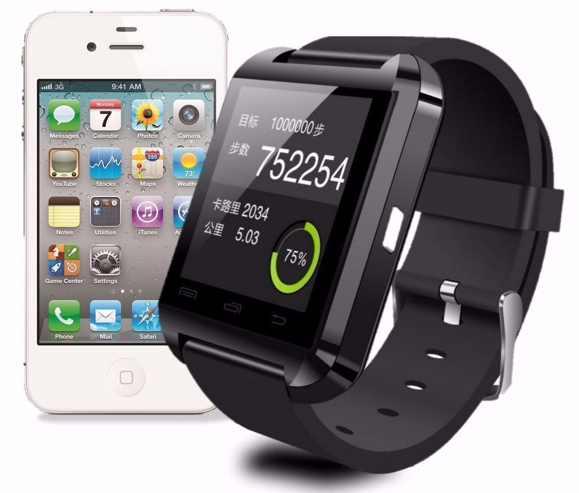 8f8306aeb75 smartwatch u8 relógio inteligente bluetooth android iphone. Carregando zoom.