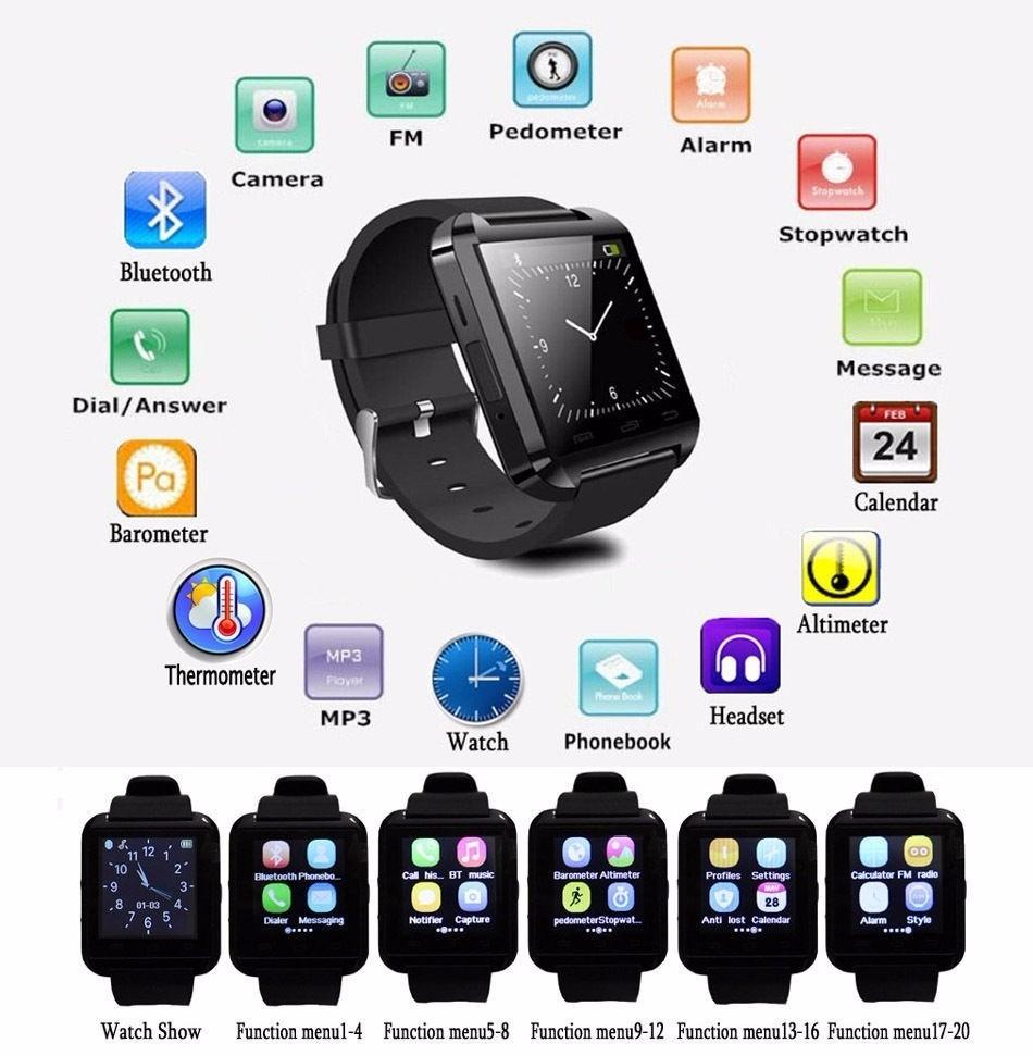 e5017a2ea33 smartwatch u8 relogio inteligente bluetooth android iphone. Carregando zoom.