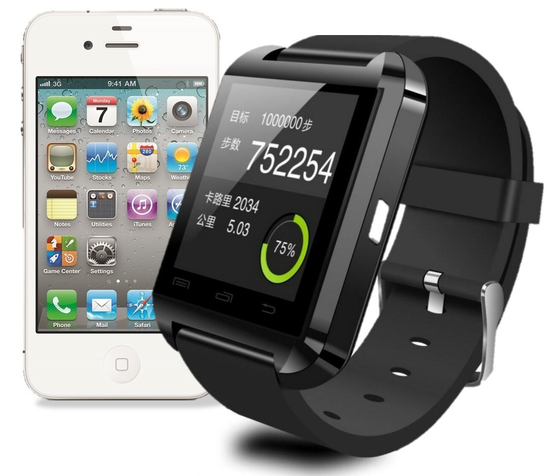 bdd7de90260 Smartwatch U8 Relogio Pulso Bluetooth Iphone Android Samsung - R  80 ...