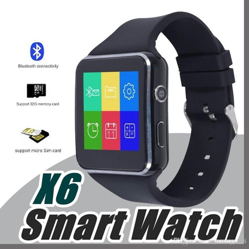 smartwatch x6 modelo 2018 curvo reloj inteligente