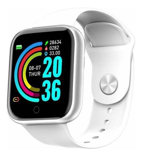 smartwatch  y68 d20 relógio com bluetooth usb com monitor ca