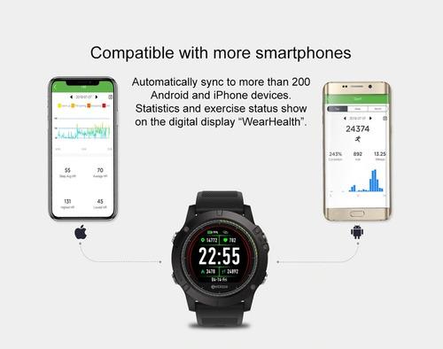 smartwatch zeblaze vibe 3 hr ip67 ritmo cardiaco reloj