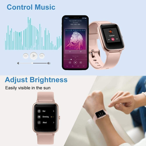smartwath willful sw021 compatible ios, android rosa unisex