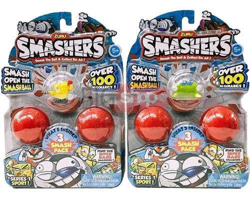 smashers pack x3 figuras serie 1 sport nuevo origina bigshop
