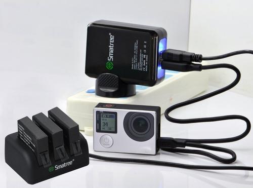 smatree® 1290mah reemplazo de la batería (2-pack) y 3-canal