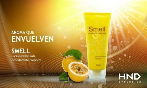 smell crema hidratante corporal de maracuya o limon - hinode