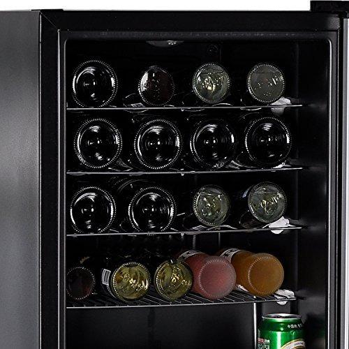 smeta 19 botellas pequeña bodega de vino refrigerador con p