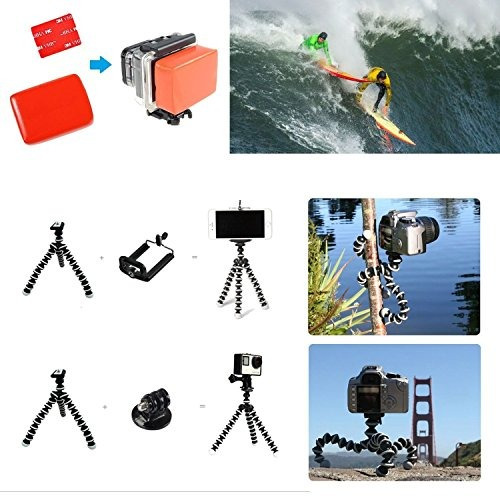 smilepowo 42-in-1 accessory kit for gopro hero5 black, hero