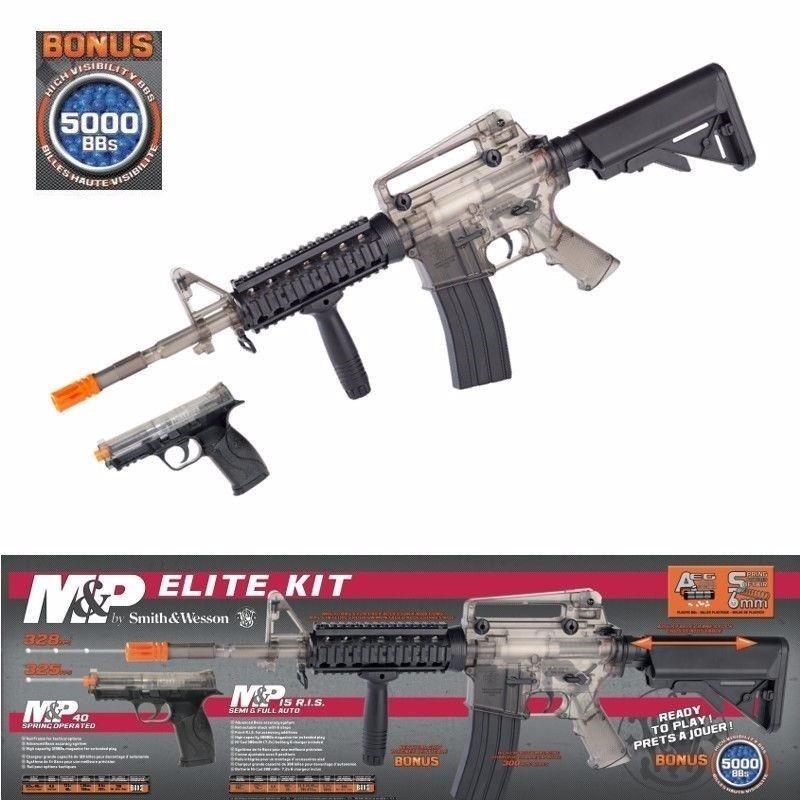 Smith & Wesson M&p Elite Aeg Airsoft Combo Mp15 + Pistola M4 ...
