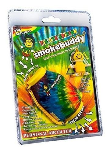 smoke buddy tie dye amarillo / naranja filtro de aire person